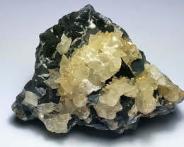 Amazing Natural Damage free Fluorite combine with lovely Calcite 770 Cts-P
