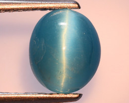 1.58 Ct Natural Cat's Eye Blue Apatite Rarest Gemstone. ATC 09