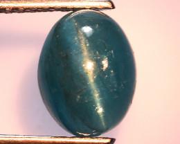 2.49 Ct Natural Cat's Eye Blue Apatite Rarest Gemstone. ATC 17