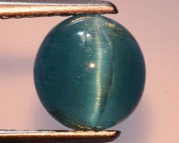 1.92 Ct Natural Cat's Eye Blue Apatite Rarest Gemstone. ATC 24