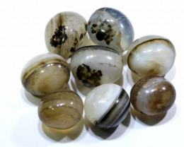 155 CTS AGATE BOTSWANA  BEADS DRILLED(8PCS)   NP-321