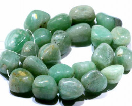 505 CTS -GREEN JADE BEADS STRAND  NP-361