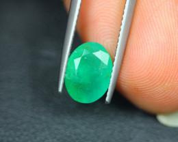1.81ct Natural Zambia Green Emerald Oval Cut Lot LZ3859