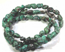 70 CTS-GREEN TURQUOISE  NECKLACE NP- 396