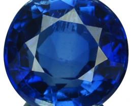 1.60 Cts Natural Royal Blue Kyanite 6.8mm Round Cut Nepal