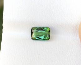 0.90 Ct Natural Green Transparent Tourmaline Ring Size Gemstone