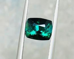 1.35 Ct Natural Dark Green Transparent Tourmaline Gemstone