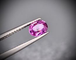 GFCO+  0.76 Cts NO HEAT Natural Pink Sapphire CERTIFIED Gems Corundum