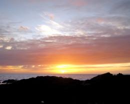 Hawaiian sunset.  Kailua Kona, Big Island, Hawaii.