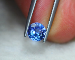 1.06Ct Natural Violet Blue Tanzanite Round Cut Lot B1644