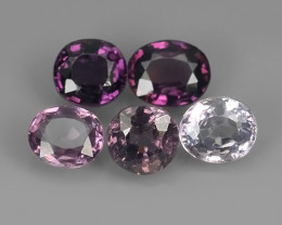 4.10 CTS~ADAROBLE RARE NATURAL FANCY SPINEL TOP COLOR 5 PCS!!