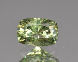 Natural Demantoid Garnet 1.55 Cts, Full Sparkle Faceted Gemstone