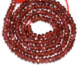 25.95 Cts Natural Red Rhodolite Garnet Beads - 35 cm and 3.0x2.8 mm