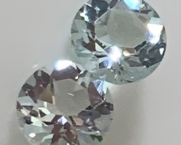 2 PIECE GOSHENITE GEMS JEWELLERY GRADE GEMS 5.00MM C8P