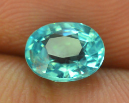Great Luster 1.00 ct Apatite Mesmerizing Caribbean Color