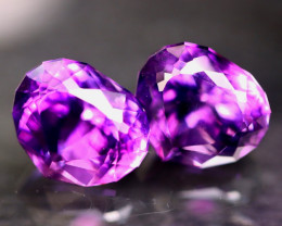 Electric Amethyst 9.32Ct 2Pcs Natural Electric Violet Uruguay Amethyst A022