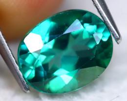 Green Topaz 3.51Ct Natural Vivid Green Brazilian Topaz  A0233