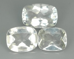 17.70 CTS~FINE QUALITY_LUSTROUS -NATURAL WHITE TOPAZ -CUSHION