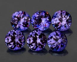 3.00 mm Round 6 pcs Unheated Violet Blue Sapphire [VVS]
