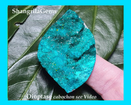 RESERVED 110ct 46mm Dioptase cabochon from Kazakhstan 46 by 32 by 10mm AAA