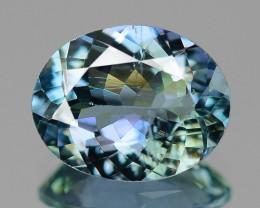 1.68 Cts Amazing rare Blue Green Color Natural Tanzanite Gemstone