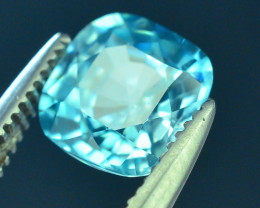 AAA Brilliance 1.35 ct Blue Zircon Cambodia ~ K
