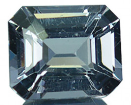 Natural Silver Grey Spinel 6x5mm Emerald Cut 0.88 Cts Sri Lanka