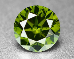 0.44 Cts Sparkling Rare Fancy  Green Color Natural Loose Diamond