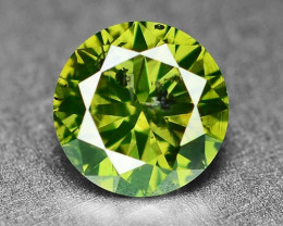 0.41 Cts  Sparkling Rare Fancy  Green Color Natural Loose Diamond
