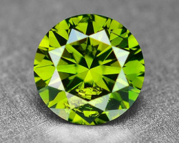 0.34 Cts  Sparkling Rare Fancy  Green Color Natural Loose Diamond