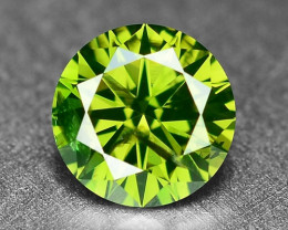 0.40Cts  Sparkling Rare Fancy  Green Color Natural Loose Diamond