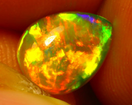 Welo Opal 1.08Ct Natural Ethiopian Play of Color Opal E0336