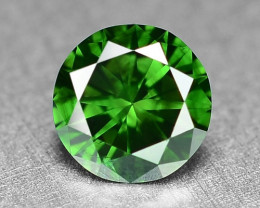 0.32 Cts  Sparkling Rare Fancy  Green Color Natural Loose Diamond