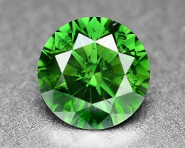0.39 Cts  Sparkling Rare Fancy  Green Color Natural Loose Diamond