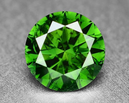 0.37Cts  Sparkling Rare Fancy  Green Color Natural Loose Diamond