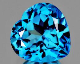7.00 mm Heart 1.61cts Swiss Blue Topaz [VVS]