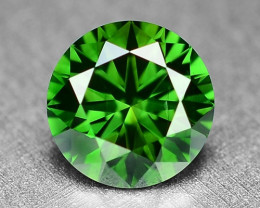 0.37 Cts  Sparkling Rare Fancy  Green Color Natural Loose Diamond