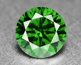 0.31  Cts Sparkling Rare Fancy  Green Color Natural Loose Diamond