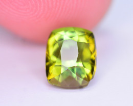 Gorgeous Color 1.80 Ct Natural Yellowish Green Tourmaline. ARA