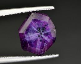 Rarest 3.95 Ct Corundum Sapphire Trapiche From Kashmir Valley