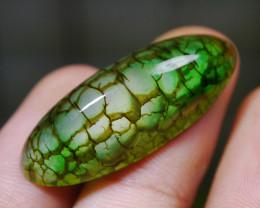 30.55 CT Beautiful Green Dragon Skin Chalcedony Agate