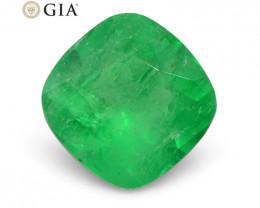 1.18 ct Cushion Emerald GIA Certified Colombian F1/Minor
