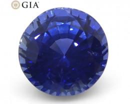 1.46 ct Round Blue Sapphire GIA Certified Sri Lanka