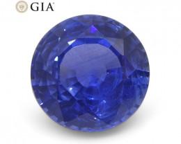 1.1 ct Round Blue Sapphire GIA Certified Sri Lanka
