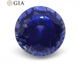 1.33 ct Round Blue Sapphire GIA Certified Sri Lanka