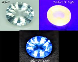 3.65 cts Rare Tenebrescent Scapolite Gemstone