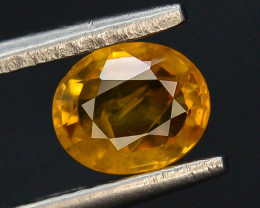 Top Clarity & Color 0.85 ct Rarest Yellow Sapphire~Sri Lanka