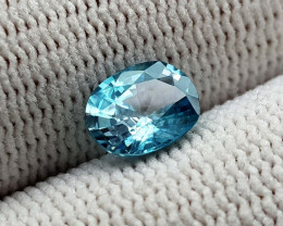 1.55CT BLUE ZIRCON BEST QUALITY GEMSTONE IIGC103