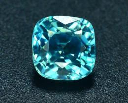 AAA Brilliance 1.65 ct Blue Zircon Cambodia ~ K