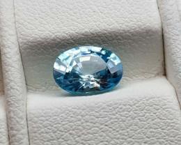 1.65Crt Blue Zircon Natural Gemstones JI91